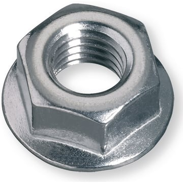 Ribbed Nuts steel10 M16 zinc-plated